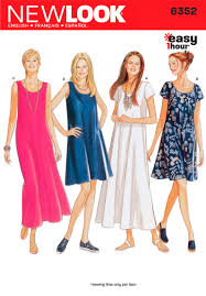 New Look Patterns Mesmerizing 48 New Look Pattern Misses Easy Flowing Summer Dresses