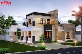 Captivating 2100 Square Feet (195 Square Meter) (233 Square Yards) 4 Bedroom Modern  Flat Roof House. Designed By Inex Builders.