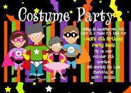 costume party invites halloween costume party birthday party invitation adult kids boy girl