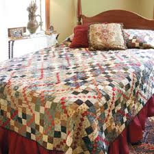 Trace: Scrappy Reproduction Print Bed Quilt Pattern & Garnet Trace: Scrappy Reproduction Print Bed Quilt Pattern Adamdwight.com