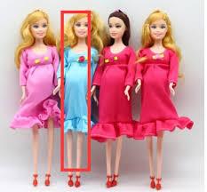 1 Búp Bê Mẹ Bầu Tóc Nâu Tự Làm Có Em Bé Trong Bụng Cho Búp Bê Barbie Quà  Tặng Đồ Chơi Trẻ Em Tháng 6