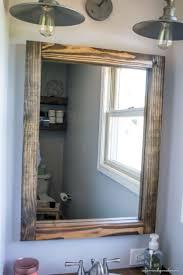 Style : Amazing Wooden Bathroom Mirror Frames Rustic Bathroom ...