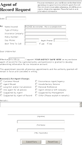 -- Form Of Agent Record