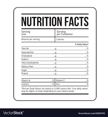 Nutrition Labels Template Nutrition Facts Label Template