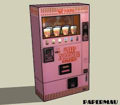Noodle Vending Machine Magnificent Cup Noodles Vending Machine Paper Model By Mauther On DeviantArt