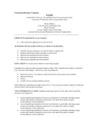 Free Functional Resume Templates Microsoft Word Sample For