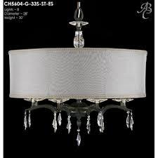 kaya 8 light crystal chandelier shade color crystal frost hardback finish dark bronze