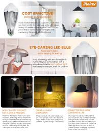 e27 5w led infrared motion sensor pir warm light bulb lamp auto switch stairs light