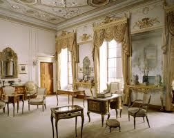 The Drawing Room at Berrington Hall, Herefordshire, England. Among the  furniture on display is a Regence mazarin, century kidney table and ...