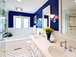 Small Blue Bathrooms Small Bathroom Decorating Ideas Designs Hgtv Royal Blue With White