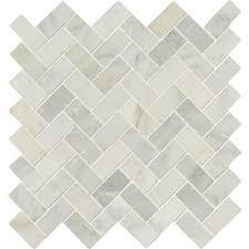 msi arabeo carrara herringbone pattern 12 in x 12 in x 10mm honed marble