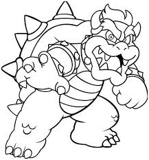 Bowser Coloring Page Coloring Board Pinterest Stencils Bowser