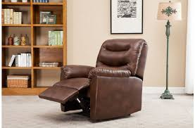 elegant comfy regency faux leather recliner chair in black or brown bronze faux leather recliner r67