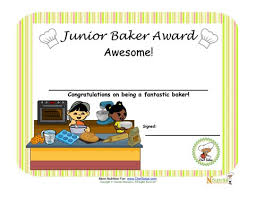 Children Certificate Template Junior Baker Baking Award For Children