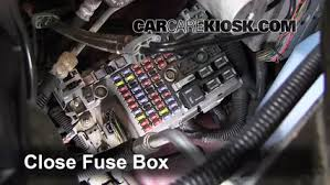 blown fuse check 1990 1996 chevrolet g20 1994 chevrolet g20 6 replace cover secure the cover and test component