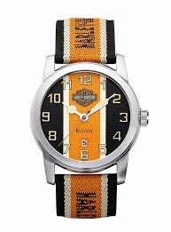 mens harley davidson nylon strap watch by bulova 76b144 watches mens harley davidson nylon strap watch by bulova 76b144