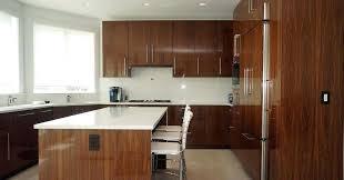veneer kitchen cabinets high gloss walnut veneer cabinetry contemporary kitchen cabinets kitchen cabinets bakes company walnut