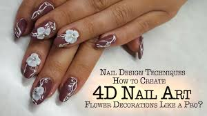 4D Nails - How to Create 4D Nail Art Flower Decoration? - YouTube