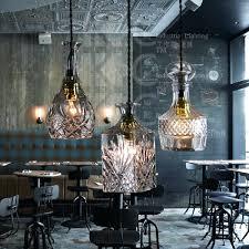 vintage style lighting fixtures. Bar Pendant Light Fixtures Vintage Glass Bottle Restaurant Hanging Lamp Style Lighting Fixture A