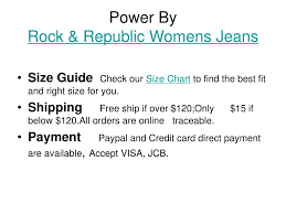 Rock And Republic Jeans Size Chart Ppt Discount Rock Republic Womens Jeans Powerpoint