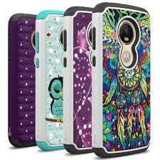 Cover Cases Play E5 Hybrid Moto Cruise Rhinestone Series Motorola Phone Bling Coveron Diamond Case Aurora