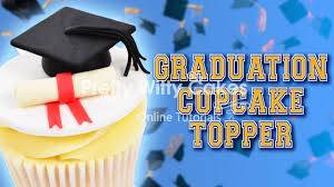How To Make A Graduation Cupcake Topper Pretty Witty Cakes Youtube