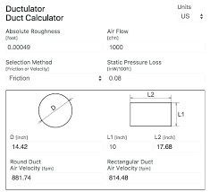 Hvac Cfm Air Flow Chart Rectangular Duct Sizes Chart Www Bedowntowndaytona Com
