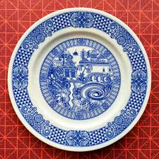 Show Plate Designer New Scenes Of Fantasy And Disaster On Traditional Blue