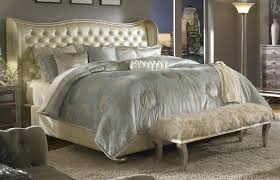 leather tufted collection with gold headboard picture queen