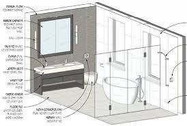 Simple Bathroom Drawing Design Drawings Plans Model R Intended