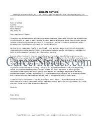 Teacher Resume Cover Letter Examples Awesome Elementary Teacher