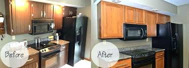 cabinet refacing before and after kitchen