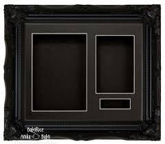 black swept ornate deep box frame 12x10 black 3 mount black back