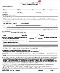 Sample Of Medical Records Medical Record Release Form Sample 9 Examples In Word Pdf