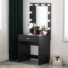 Amazon.com: Tribesigns Vanity Set with Lighted Mirror, Makeup Desk ...