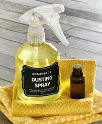 diy dusting spray with essential oils cleans and repels dust so you clean less often