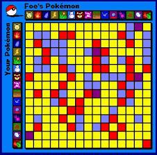 Battle Chart Red Blue Battle Chart Pokedream