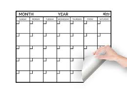 monthly calenar dry erase monthly calendar monthly calendar whiteboard writeyboard