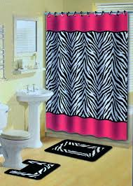 shower curtains and rugs pink zebra stripes animal print shower curtain w hooks bathroom rug set shower curtains and rugs