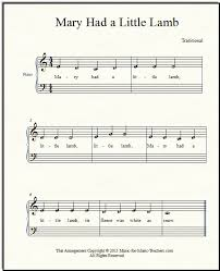 another world a little princess sheet music mary had a little lamb for beginner piano how to add chords