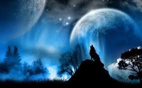 волк воющий на луну зверюшки в 2019 г изображение дикой прироты