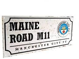 <b>Manchester City</b> FC Retro Street Sign (One Size) (<b>Black/White</b> ...