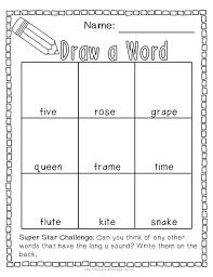 Long A Silent E Worksheets for First Grade | Homeshealth.info