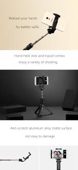 meizu bluetooth remote control selfie stick tripod for iphone 7 7 plus samsung s8 xiaomi