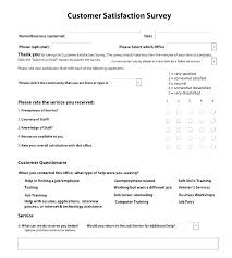 Customer Service Survey Template Free Service Questionnaire Template Customer Service Questionnaire