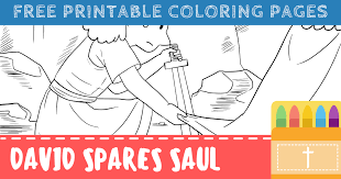 God's training program for all believers is not always the and yet god did not see fit to remove the corrupt saul and install the upright david as king until david was 30 ( 2 sam. Free David Spares Saul Coloring Pages For Kids Connectus
