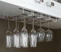 Wine Glass Hangers Under Cabinet Kitchen Cabinets Best Under Cabinet Wine Glass Rack Design Under
