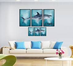 shark sticker 3d depth illusion vinyl ocean wall decor mural decal window frame style home art removable wall poster stickers sea underwater c