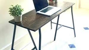 Narrow Desk Home Office Saving Furniture Design Wood Table Base
