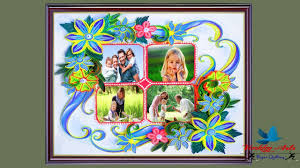 Paper Quilling Flower Frames Quilling Frames Beautiful Flowers Designs For Wall Frames Paper